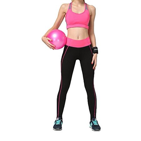 0eaa510dcc Pop Fashion - Womens Leggings Workout Pants for Yoga, Sports, Running, Gym,  Crossfit, Zumba (XL, Black / Pink) - Walmart.com