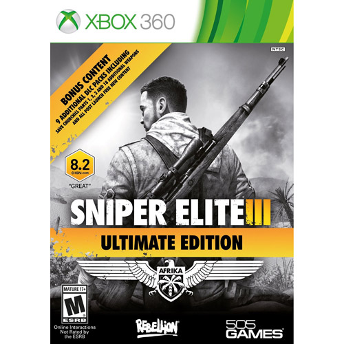 Sniper Elite III Ultimate Edition (Xbox 360) 505 Games, 812872018454