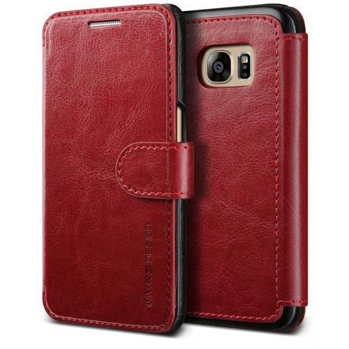 Verus Layered Dandy Premium PU Flip Leather Wallet Case for Samsung Galaxy S7