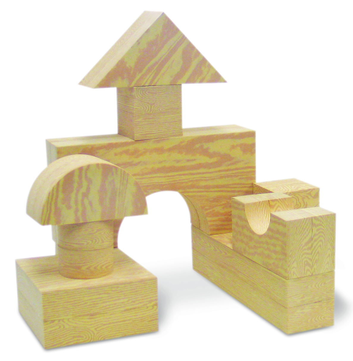 Edushape Big Wood-Like Blocks, 32-Piece by Edushape