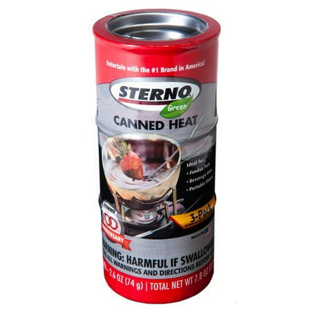 Sterno 2.6 oz Entertainment Cooking Fuel Cans, 3-Pack ()