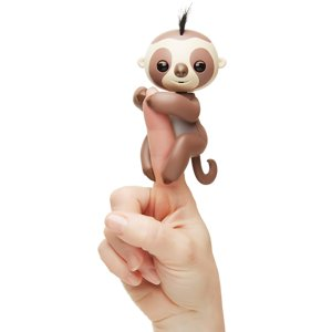 Fingerlings - Kingsley The Interactive Baby Sloth (Walmart Exclusive) - Brown - By WowWee