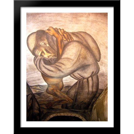 - The Franciscans 28x36 Large Black Wood Framed Print Art by Jose Clemente Orozco