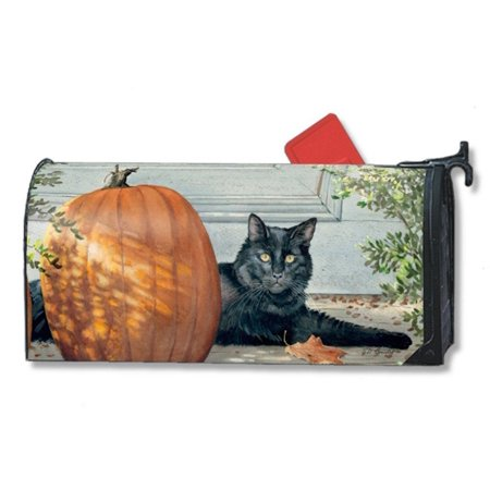 Magnet Works Black Cat Pumpkin Original Magnetic Mailbox Wrap Cover