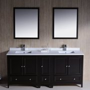 Fresca Oxford 72'' Double Bathroom Vanity Set with Mirrors