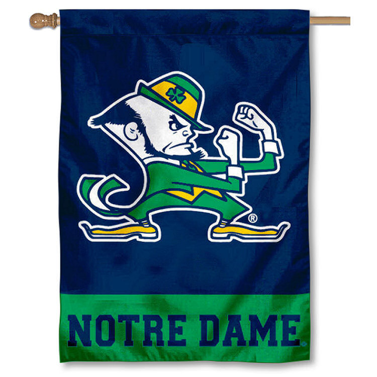 """Notre Dame 30"""" x 40"""" House Flag and Banner"""