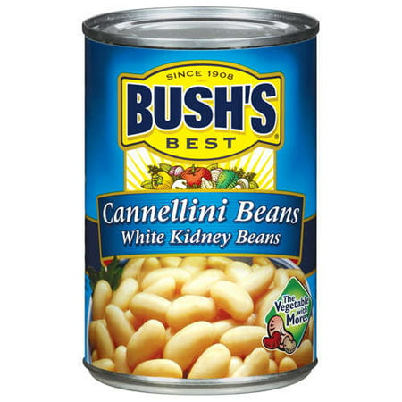 (6 Pack) Bush's Best White Kidney Cannellini Beans, 15.5 (Best Canned Food For Humans)
