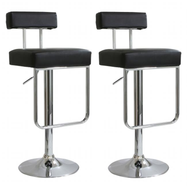 Buffalo Tools BS2330SET Ameri Home 2 Piece Contemporary Padded Bar Stool Set in Black