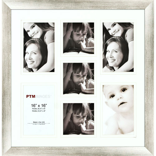 Silver 7-Opening Collage Frame, Set of 2
