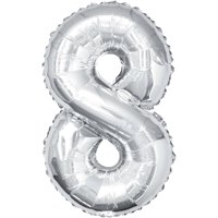 Foil Big Number Balloon, 8, 34 in, Gold, 1ct