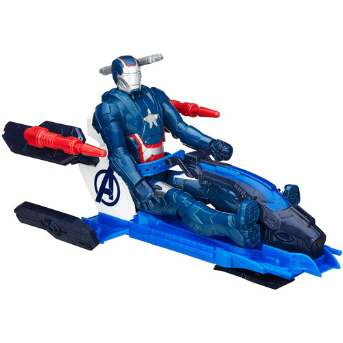 The Avengers Avn Iron Patriot With Arc Thruster Jet by Hasbro