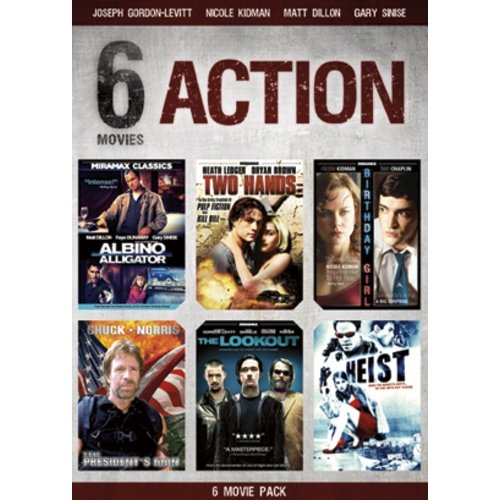 6 Film Action Set: Two Hands / Albino Alligator / The Lookout / Birthday Girl / Heist / The President's Man (Widescreen)