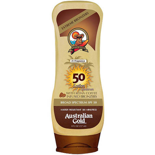 Australian Gold Moisture Max Sunscreen Lotion with Bronzer, SPF 50, 8 fl oz
