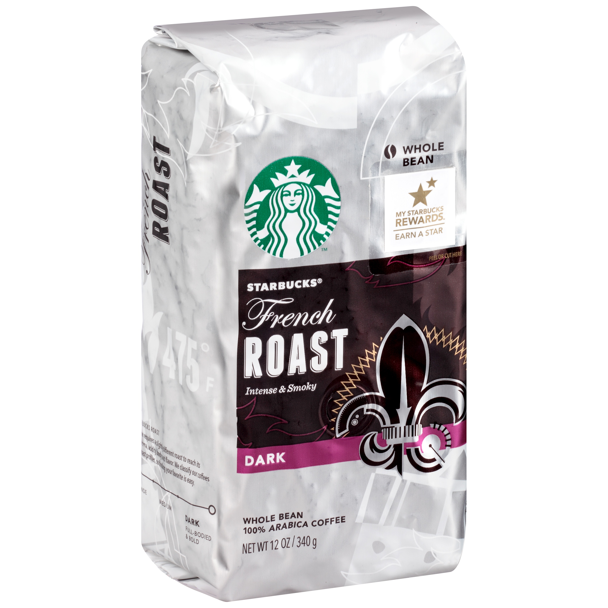 Starbucks French Roast Dark Whole Bean Coffee, 12.0 OZ