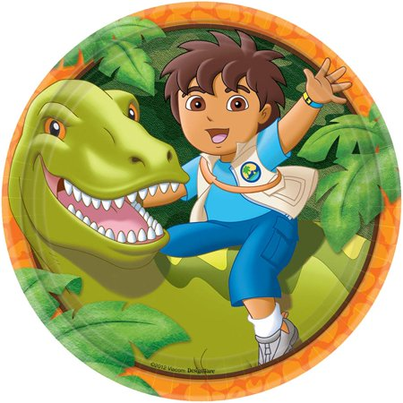 Diego's Biggest Rescue 9' Plates (Set Of 8) - Party Supplies - Planes Party Supplies