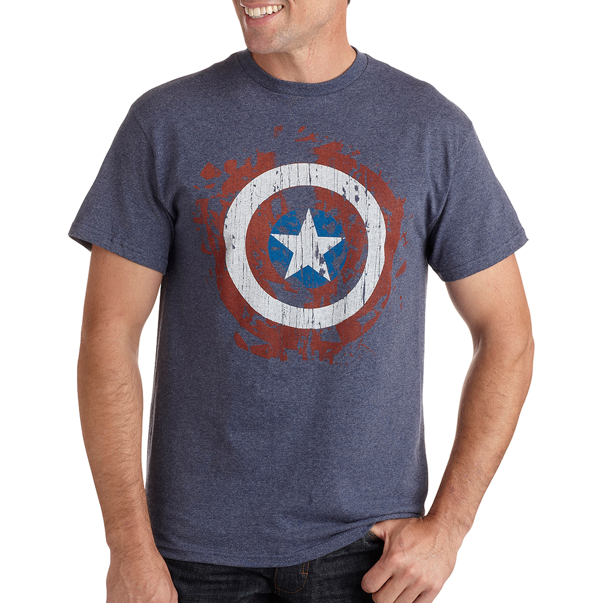 Captain Splatter Shield Big Men's Graphic Tee