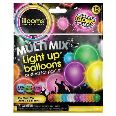 15ct Illooms Led Light Up Mixed Solid Balloon Walmartcom