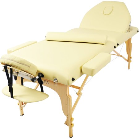 Professional portable 3 foam folding massage table w adjustable legs back - How much is a massage table ...