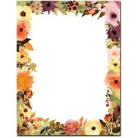Fall Floral Letterhead Laser & Inkjet Printer Paper