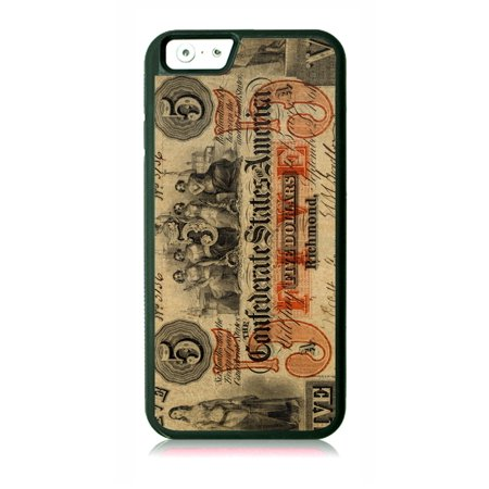 Confederate Dollar Bill (Confederate 5 Dollar Bill Black Rubber Case for the Apple iPhone 6 / iPhone 6s - iPhone 6 Accessories - iPhone 6s Accessories )