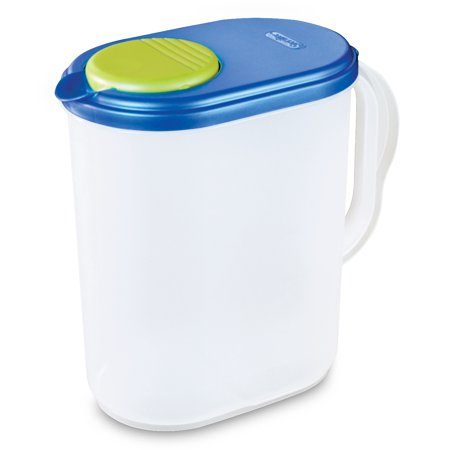 Sterilite 1 Gal Pitcher, Blue Sky (Available in Case of 6 or Single Unit) - Plastic Carafe