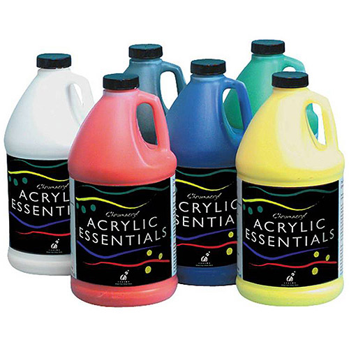 Chroma Chromacryl Acrylic Essentials, .5-Gallon, Set of 6