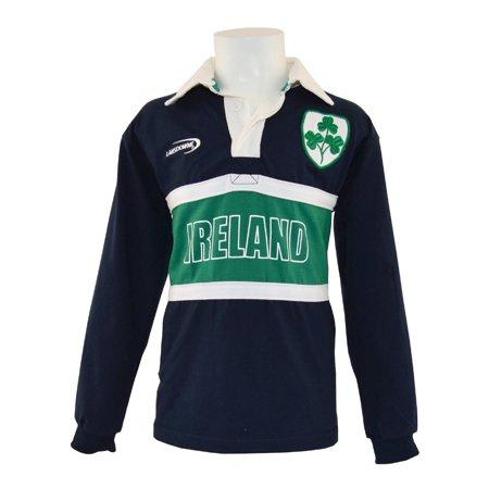 2383af10b Navy Ireland 3 Shamrock Long Sleeve Kids Rugby Top - Walmart.com