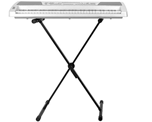 Knox Adjustable Single X Keyboard Stand with Knox Adjustable X Style Keyboard Bench by Knox