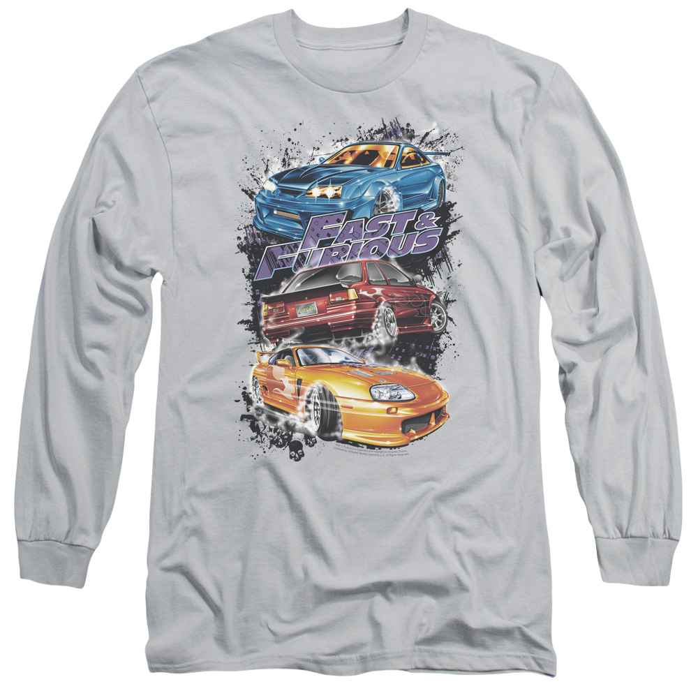 The Fast and the Furious Smokin Street Cars Mens Long Sleeve Shirt