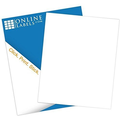 graphic regarding Printable Labels Sheets called On line Labels - Watertight Sticker Paper - White Matte - 500 Sheets - 8.5\