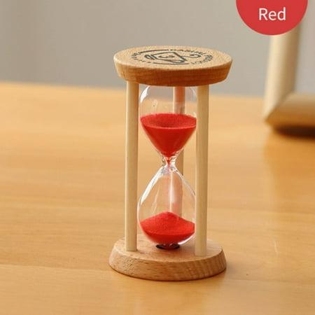 Hourglass Sand Timer 3 Minutes Sand Clock Round Watch Glass Wood Timer 3 Minute Sand Glass