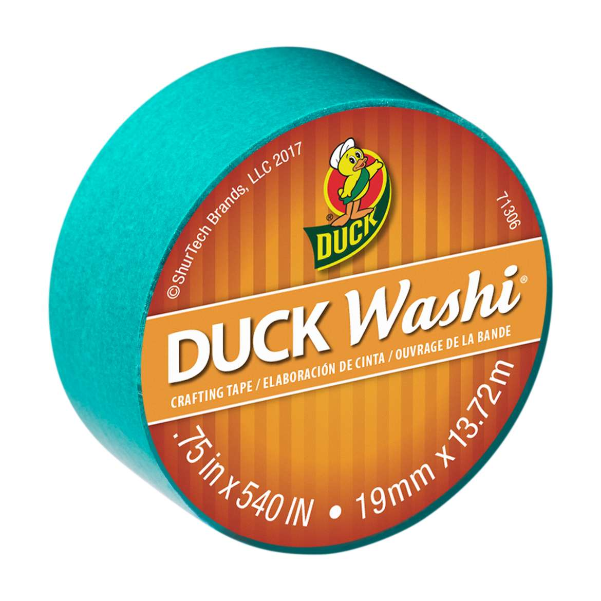 """Duck Brand Washi Crafting Tape, 0.75"""" x 15 yards, Teal"""