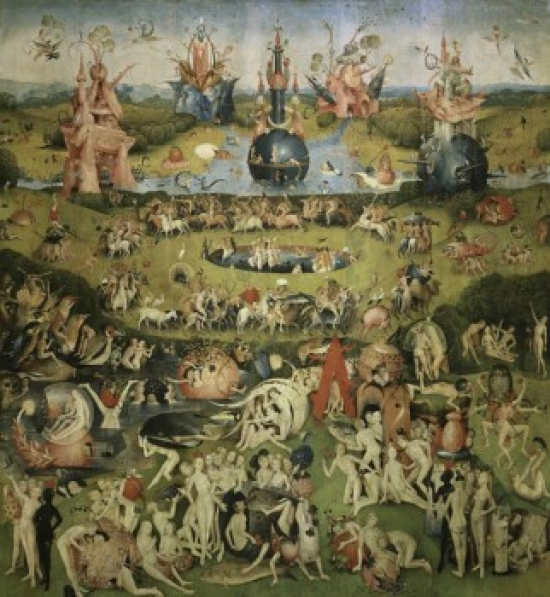 The Garden of Earthly Delights (Center Panel) c 1510 Hieronymus Bosch (c  1450,1516Netherlandish) Oil on Panel Museo del Prado Madrid Canvas Art ,  (18