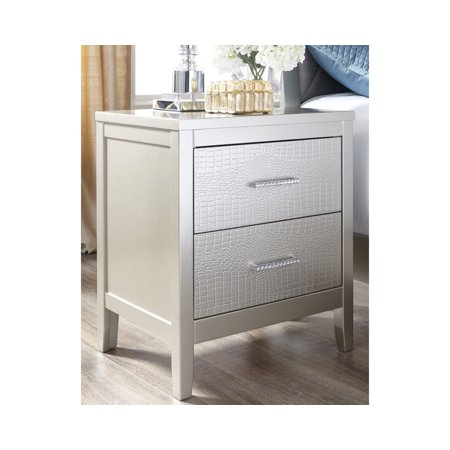 Signature Design by Ashley Olivet Silver Nightstand ()