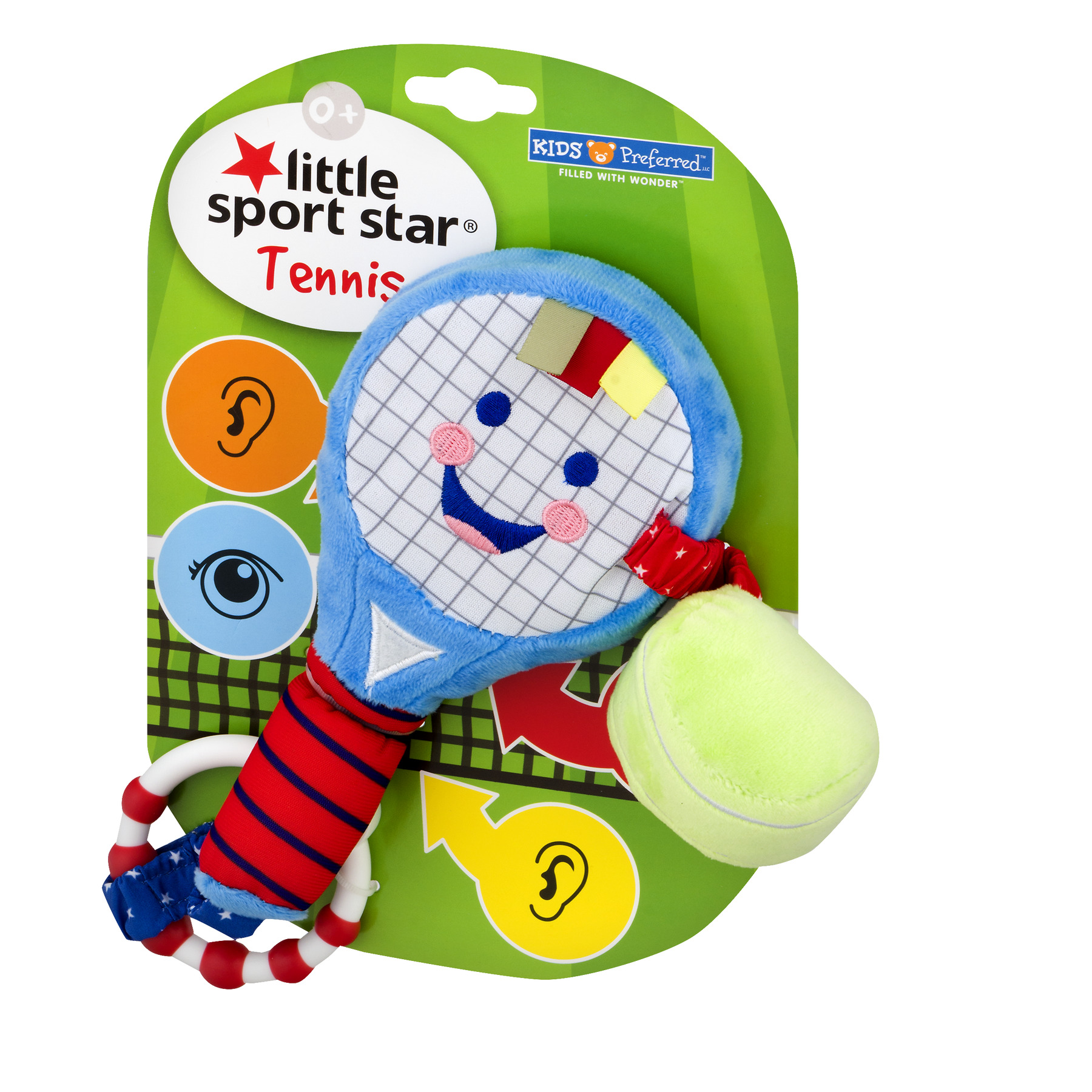 Great Baby Gift for Tennis Fans and a Great Toy for All Babies and Toddlers Baby Tennis Racket and Tennis Ball Recently Released on Little Sport Star Unisex Baby Toy