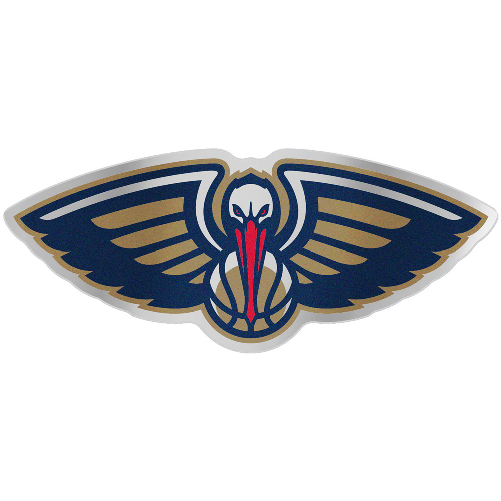 "New Orleans Pelicans WinCraft 5"" x 2.5"" Auto Emblem Decal - No Size"