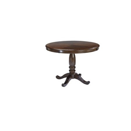 Ashley Leahlyn Round Dining Room Table Top Medium Brown ()