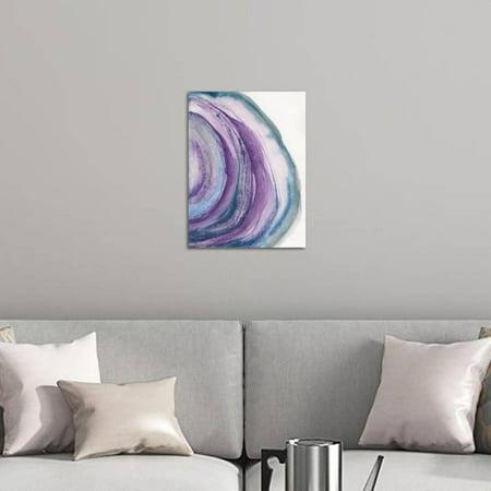 Watercolor Geode Ii Purple Agate Abstract Watercolor Print Wall Art By Chris Paschke Walmart Com Walmart Com