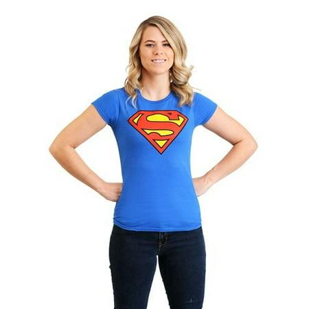 Nfl Am Crew Halloween (Womens Superman T-Shirt)