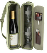 Hamptons Wine Carrier for Two in Olive Tweed