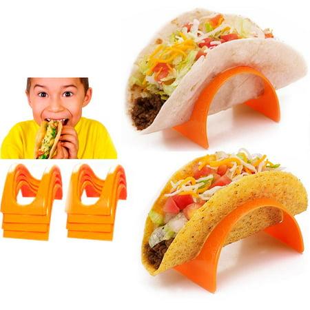 8 Pc Taco Stands Tortilla Shell Fajita Holder Rack Stand Dinner Table Kids - Taco Holder Plate