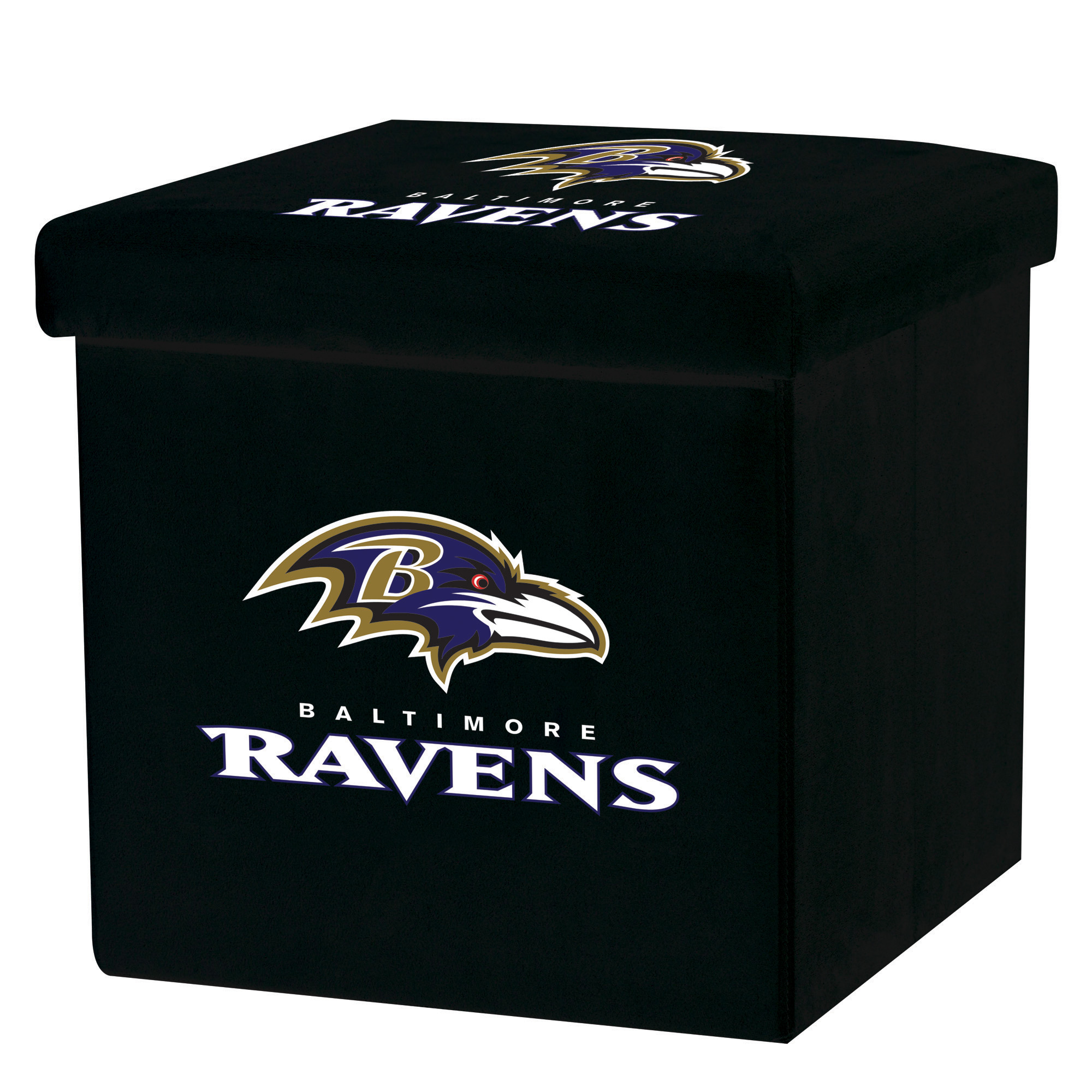 Franklin Sports NFL Baltimore Ravens Storage Ottoman with Detachable Lid