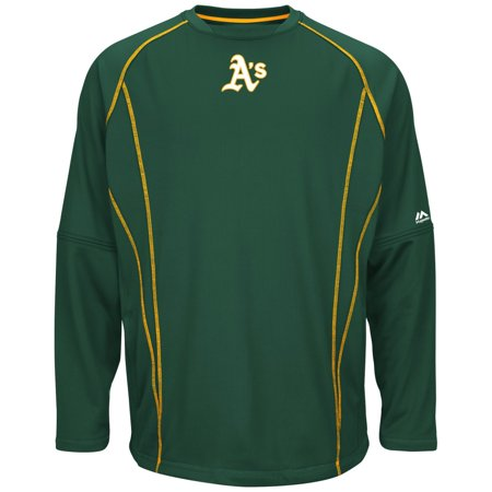 Oakland Athletics Majestic MLB Authentic On-Field Crew Pullover Sweatshirt by