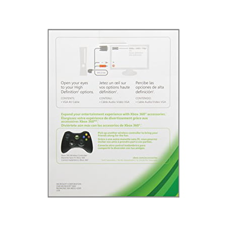 - Xbox 360 VGA HD AV Cable Without Optical Port