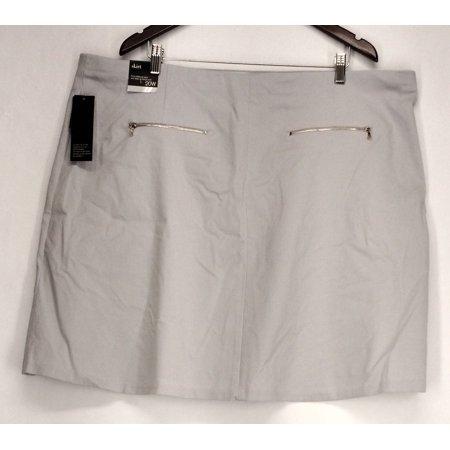 Alfani Plus Size Skirt 20W Pull On A Line Skirt Womens City Silver Gray