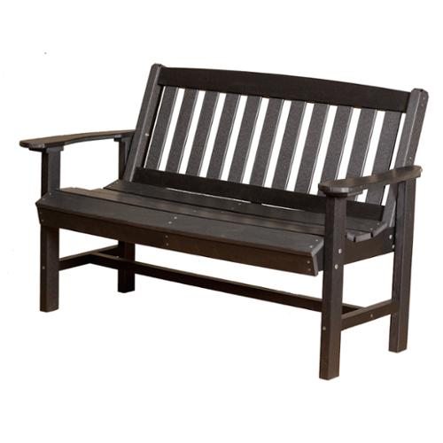 Somette Terra Poly Lumber Outdoor Mission 25 x 56 x 36 Bench Black