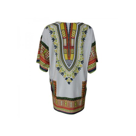 Ropalia Women Traditional African Dashiki Boho Hippe Gypsy Festival Tops Party Dress