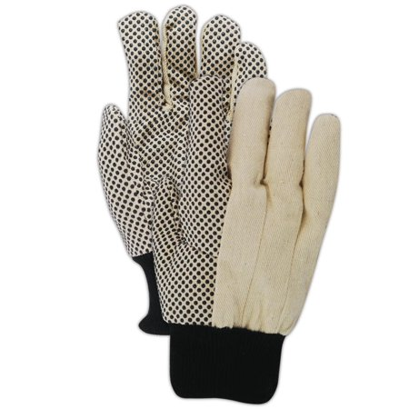 Magid MultiMaster PVC Dotted Mens Canvas Gloves, 12 Pairs