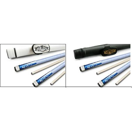 White Pool Cue Stick - Champion Gator Blue TR5 Pool Cue Stick (5/16 x18), White Hard Case, Cuetec Glove (18 oz, 13 mm)