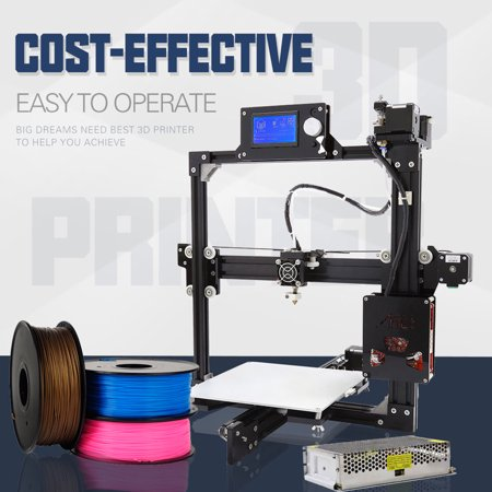 Anet X23 High Precision Desktop DIY 3D Printer Kits 3D Drucker LCD Screen Supports TF Card Printing Support ABS/PLA/HIP/PP/Wood Filament XP/for WIN7/for WIN8